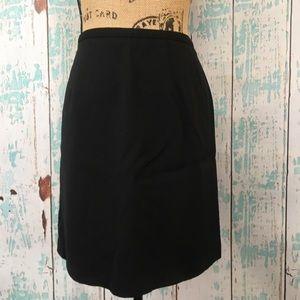 J. Crew black wool mini skirt